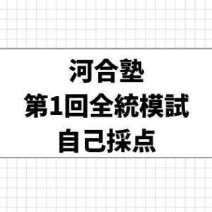 第1回 全統高2模試(記述式)自己採点【2019年】