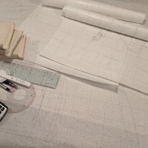 文化課題4:ワンピースの製図が仮完了
