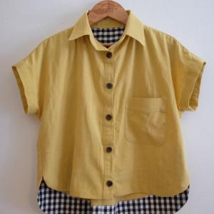 ワンピースリメイクで短めのシャツ(Kalle Shirt)