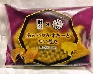 ローソン Uchi Cafe×八天堂 あんバタかすたーどたい焼き