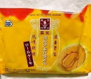 ミニストップ 森永ミルクキャラメル ロールケーキ