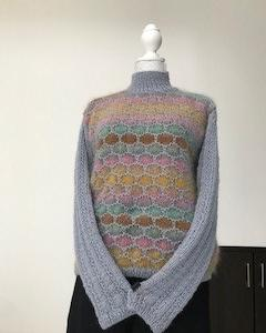 ペナで編むセーター完成(毛糸だま183号より)