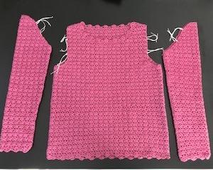 かぎ針編み講師科課題縁編み終了