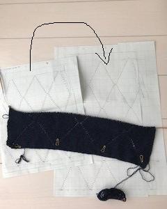袖なしプルオーバー(再)編み始め①