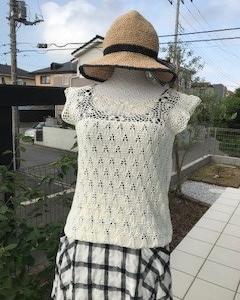 お帽子を編みなおしました!