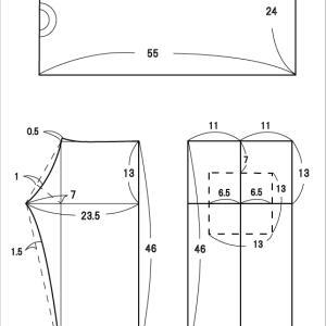 【ハンドメイド】部屋着に最高、らくちんタイパンツ!シンプルタイプの型紙製図