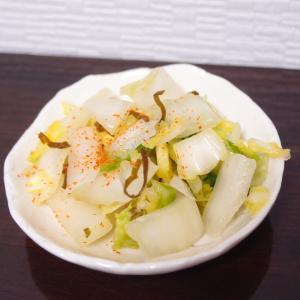【白菜の浅漬け】白だしとお酢でなんちゃって漬物