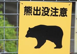 「クマの出没」に注意‼︎