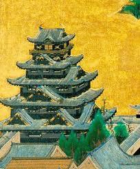 埋もれた黒い大阪城