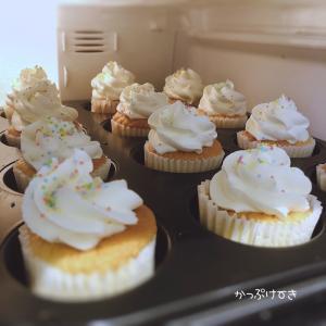 夏期講習5日目/34日 ゲッソリ。と、カップケーキ。