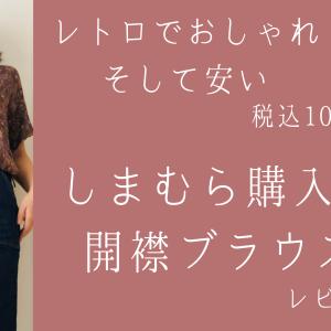 【2021しまむら購入品】トレンドの開襟シャツ(ブラウス)のデザインが可愛い・快適すぎるけどシワに注意【コーデ写真】