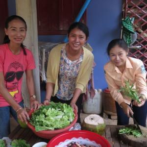 サムロム村deカンボジアの家庭料理体験