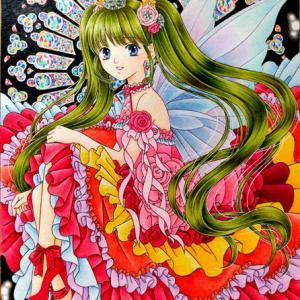 「紅赤の精」フリフリロリ姫完成報告:スキャナー切実に買い替えたい・・・