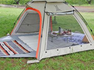 ワンタッチテントの実力はいかに?!DODビーチテントを仮設営しました。