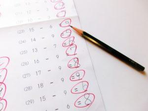 昨年の全国テストの結果②(2018年11月3日 四谷大塚 全国統一小学生テスト)