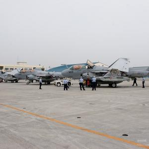 VAQ-136 Gauntlets Flight Line