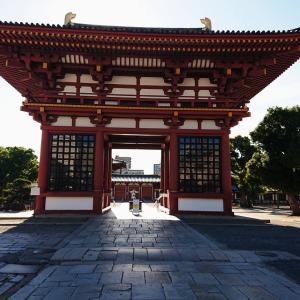 【新説・四天王寺】古い時代、熊野神社があったこん跡【堀越神社の案内板と浮橋】