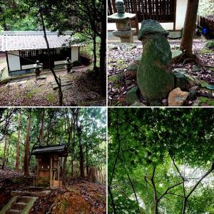 【八井神社(八幡神社)】畝傍山の北麓 カムヤイミミの御墓と伝承される社