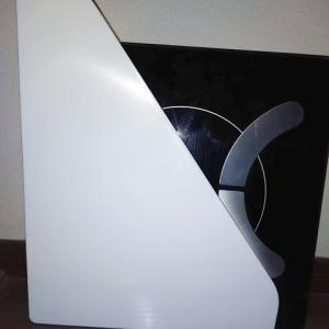 セリアのスリムなファイルスタンドで、体重計をスッキリ収納