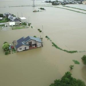 大雨で水害多発