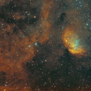 TWIN BKP130 ナローでSh2-101チューリップ星雲