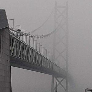 徘徊 2021年1月22日 霧の明石海峡