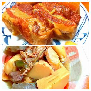 【.:*'° un cuisine :'】釣魚が無いからw・・圧力鍋煮物料理