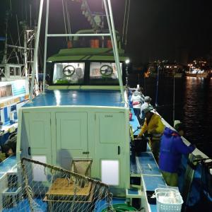 茨城県鹿島沖のヤリイカ釣り~悪天候ので早上がり