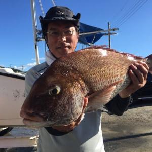 マイボートで保田沖のマダイ釣り&館山沖の中深場釣り~残暑厳しい中、連日釣行。最後に釣りの神様ほほ笑む