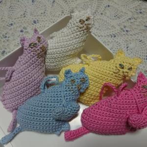 手編みの猫
