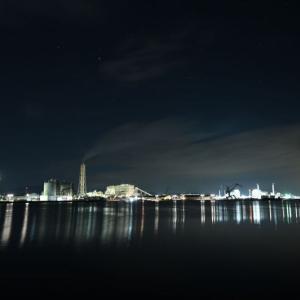 Z6Ⅱで撮る松川浦大橋と発電所の夜景(冷や汗でロビーが水浸事件)