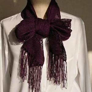 人の風景 emiko life  287話 透かし織り模様の夏用マフラーを作りました№2