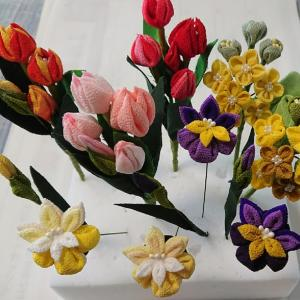人の風景 emiko life  289話 つまみ細工で春の花