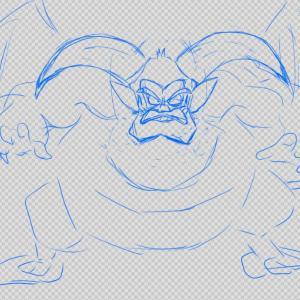 ドラクエのモンスターを模写してデジタルイラストの練習をしています