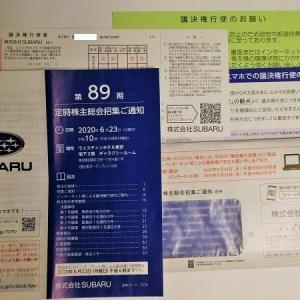 スバル 第89期株主総会招集通知