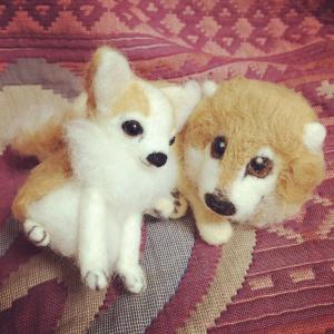 過去作品第24弾は、犬二種。人気のチワワちゃんと、もう一匹。
