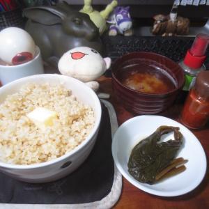 バターライスと蕗の佃煮♬