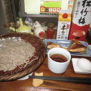 カンパチカマ焼き&酒蕎麦v(^〇^)□