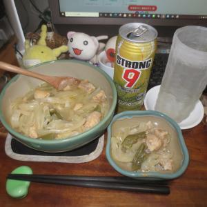 鶏もも肉のサッパリ煮(ピクルス液リサイクル)♬(^〇^)□