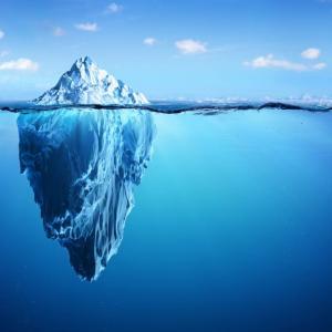 今書いている詩(1242)「氷山」