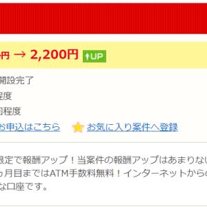 新生銀行の口座開設キャンペーン(超短期!)