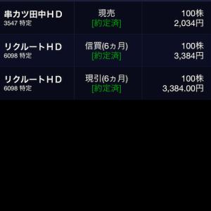8月23日の株式投資実績(▲9,000円くらい)