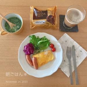 2…20.11.24*おうち時間*GODIVAパンの朝食❇︎