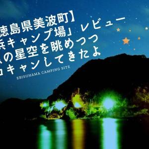 【徳島県美波町】「恵比須浜キャンプ場」レビュー・満点の星空を眺めつつソロキャンしてきたよ