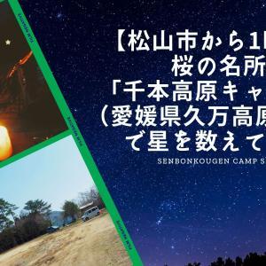 【松山市から1時間】桜の名所「千本高原キャンプ場(愛媛県久万高原町)」で星を数えてきた