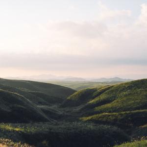 大観峰と草千里