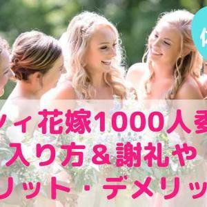 【体験談】ゼクシィ花嫁1000人委員会の入り方&謝礼やメリット・デメリット