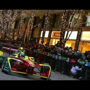 Audi 丸の内イルミネーション フォーミュラーマシン走行 Formula E in TOKYO