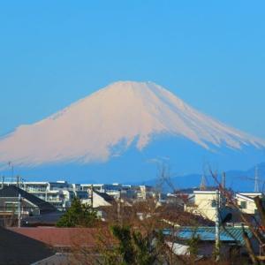 アササン 今朝のの富士山