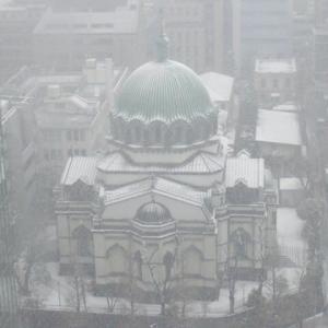 都内の雪景色  数年前の一枚